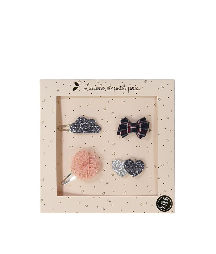 NEW! Mini Hair Clip Set Silver