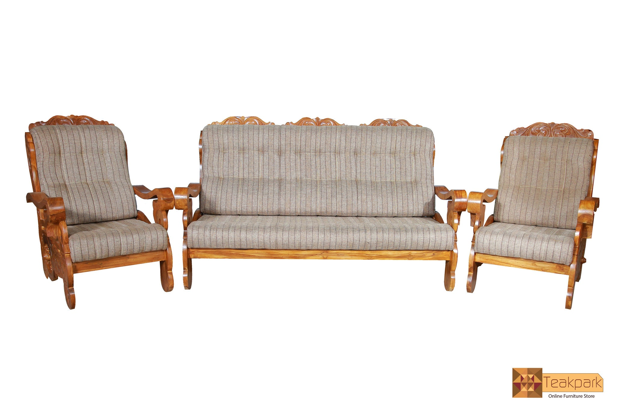Manhattan Teak Wood Sofa Set 3 1 1 Seater Teakpark