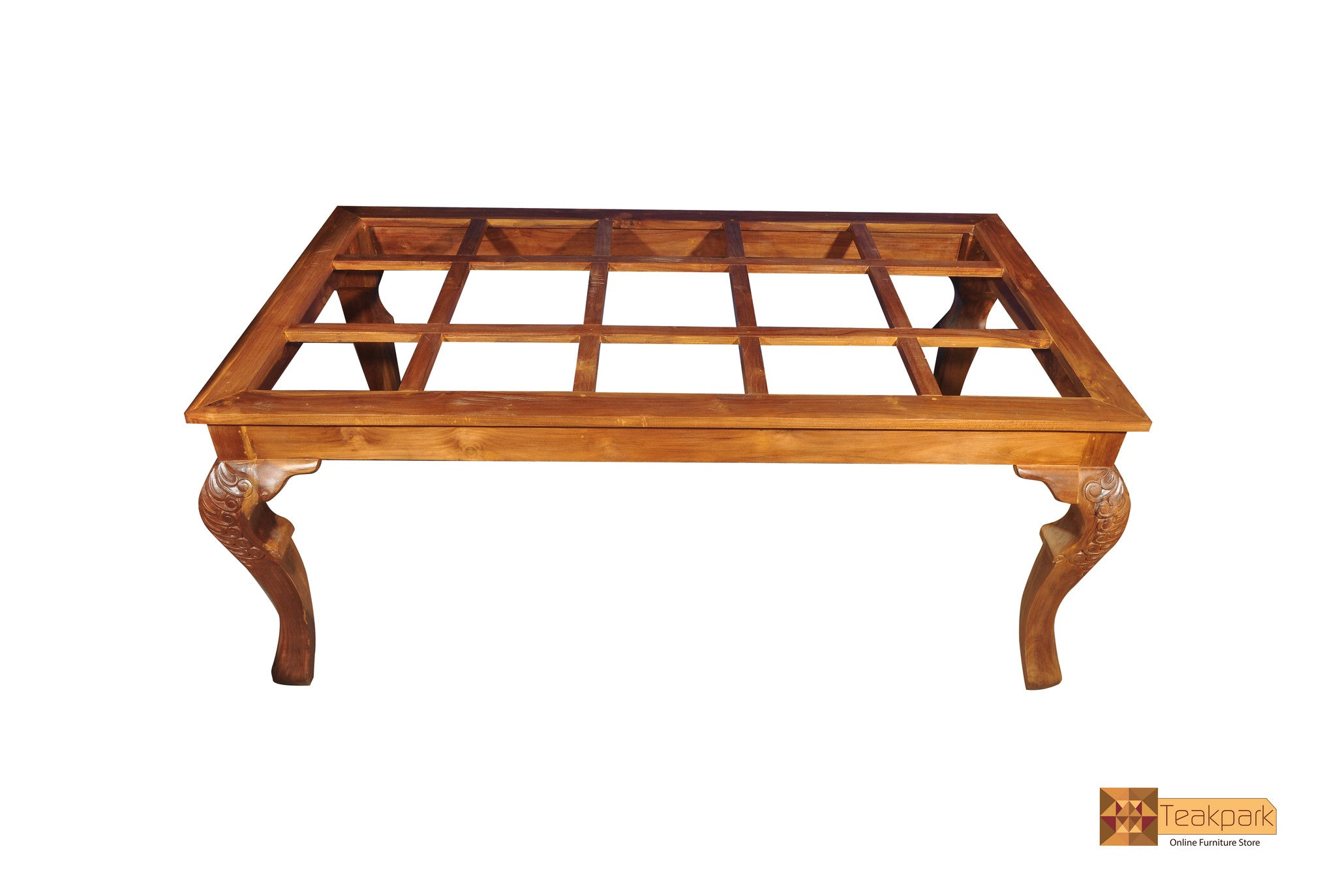 Kaveri Teak Wood Dining Set Glass Top Table With 8 Chairs