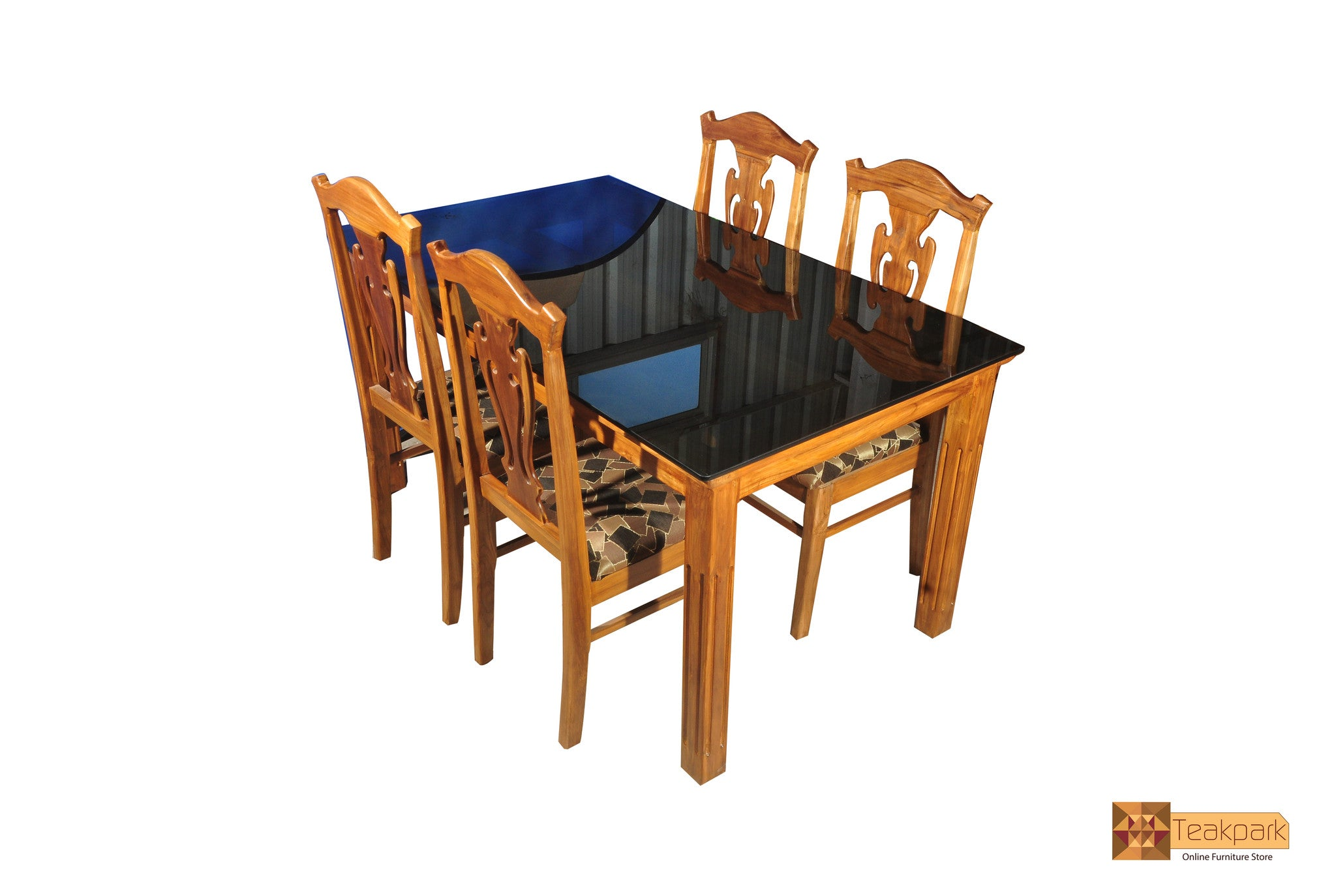 Miraculous Periyar Teak Wood Dining Set Glass Top Table With Chairs Download Free Architecture Designs Scobabritishbridgeorg