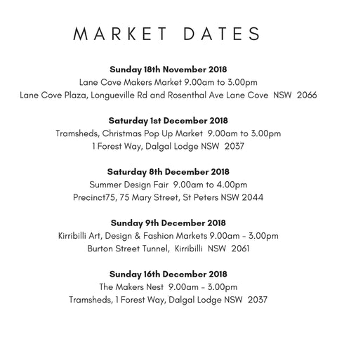 Scented Drops Market Dates 2018