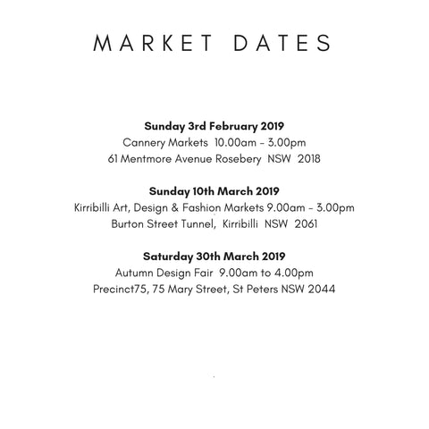 Sydney Market Dates for Scented Drops