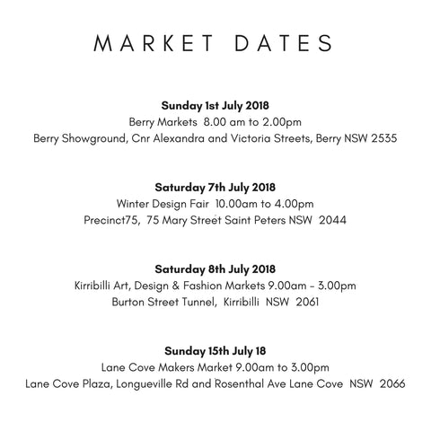 Market Dates for Scented Drops around Sydney