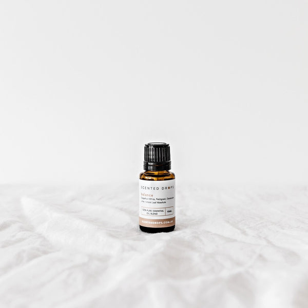 Balance Essential Oil Blend, release feelings of anger with essential oil of grapefruit, petitgrain, geranium, lime & violet. Shop Scented Drops online Free Shipping