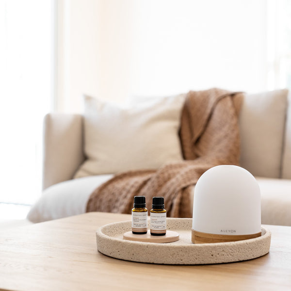 SOL Ultrasonic Diffuser Starter kit with pure essential oil blends, Sleep Easy, Breathe, Marrakech Essential oils, Shop Scented Drops