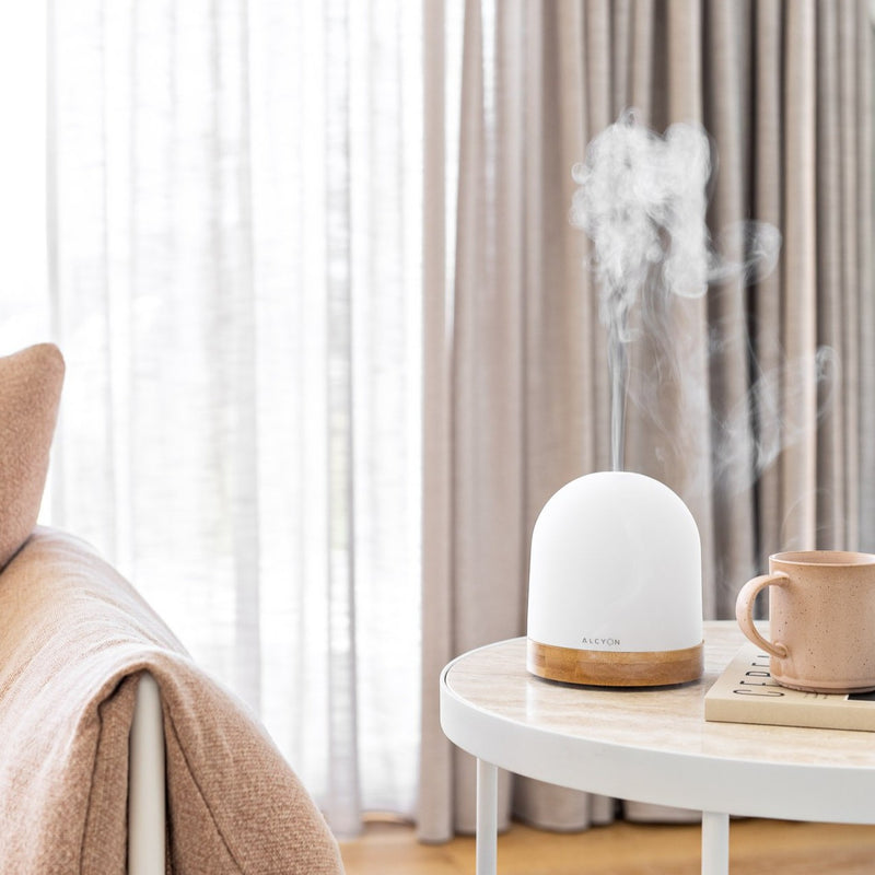 SOL Ultrasonic Aroma Diffuser, Glass & Bamboo encased beautiful design for any home. Free Essential Oil with every purchase Shop online at Scented Drops Free Shipping on all orders over $80