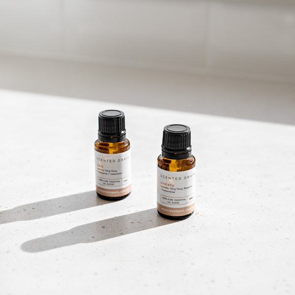 Uplift Pure Essential Oil, blended with citrus essential oils to uplift your mood. Sweet Orange, Mandarin, Lavender, Rosemary and Cedarwood Shop online at Scented Drops Free Shipping on all orders over $80