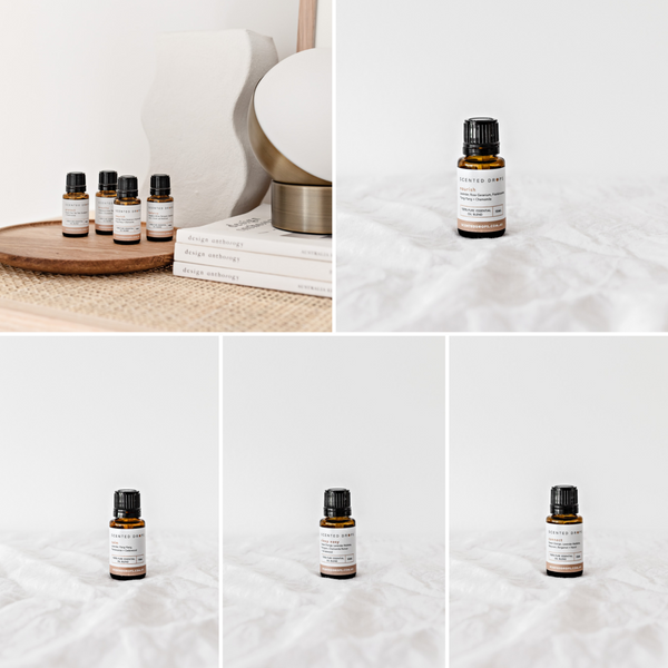 Calming Pure Essential oil blends, 100% pure essential oils, shop Scented Drops online, free shipping