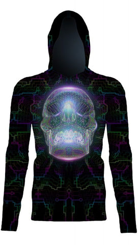 Crystal Skull Pull Over-Hoodies-Poly-Gone