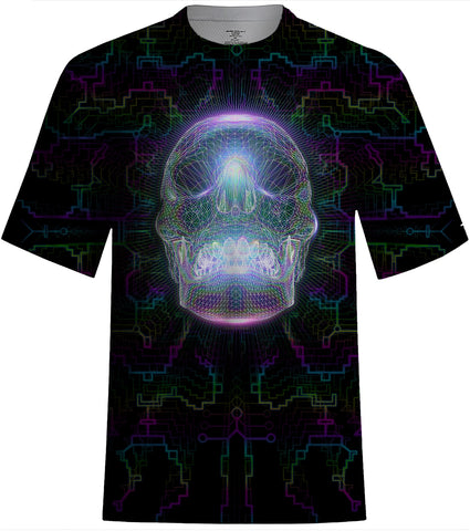 Crystal Skull T-Shirt-Shirts-Poly-Gone