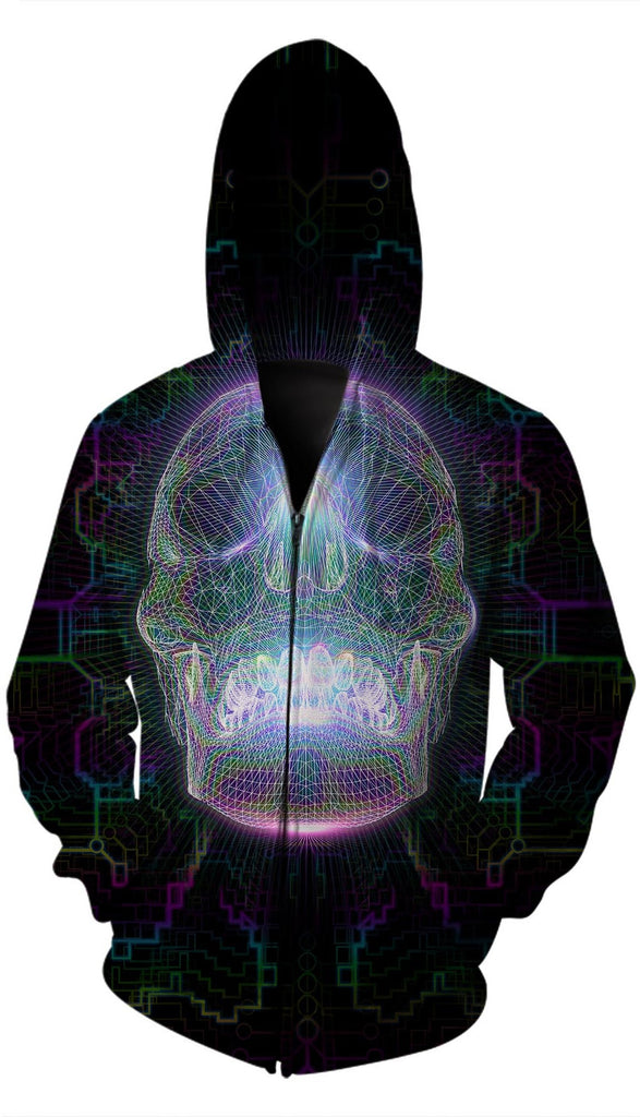 Crystal Skull Zip Up-Jackets-Poly-Gone