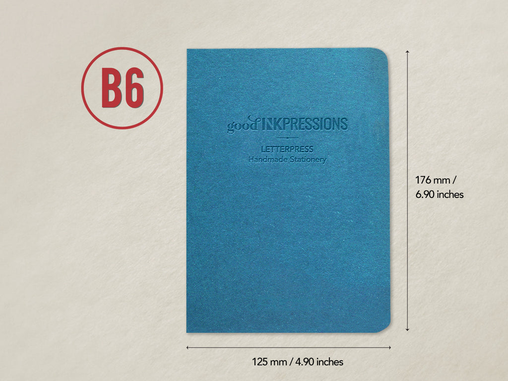 B6 160 pages - 52gsm Tomoe River WHITE - 003  - handmade by goodINKpressions