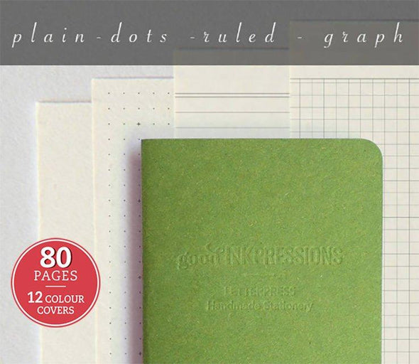 Regular 80 pages notebook - Clairefontaine paper - 014  - handmade by goodINKpressions