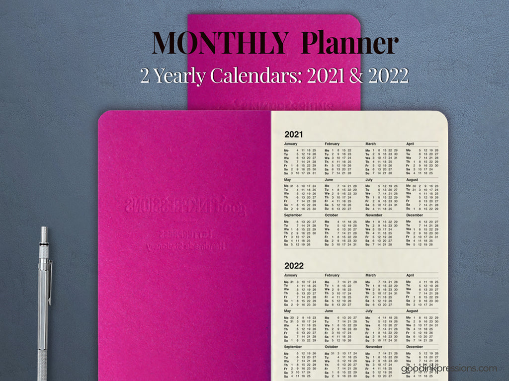 Tomoe River White-Cream 68gsm MONTHLY Planner