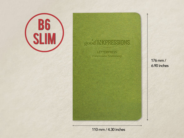 B6 Slim 80 pages notebook - Clairefontaine paper - 014  - handmade by goodINKpressions