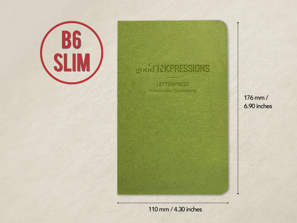B6 Slim 160 pages - 52gsm Tomoe River WHITE - 003  - handmade by goodINKpressions