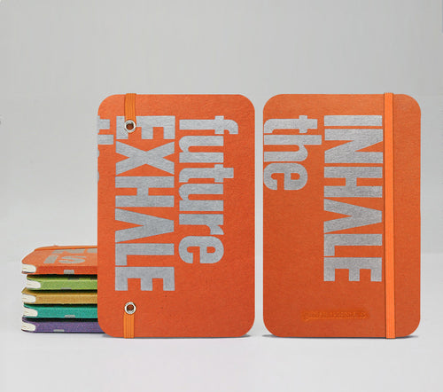 INHALE the future EXHALE the past Fountain Pen Notebooks - handmade by goodINKpressions