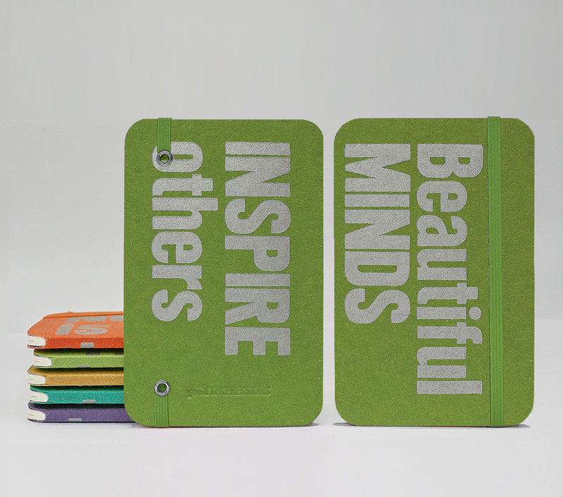 Beautiful MINDS INSPIRE Others Fountain Pen Notebooks - handmade by goodINKpressions