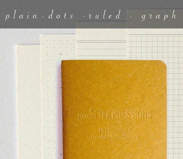Regular 60 page, CLAIREFONTAINE paper - TN Insert - 015  - handmade by goodINKpressions