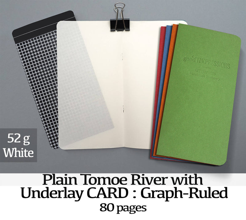 80 Page Tomoe River with UNDERLAYS, White 52gsm Fountain Pen Notebooks - handmade by goodINKpressions