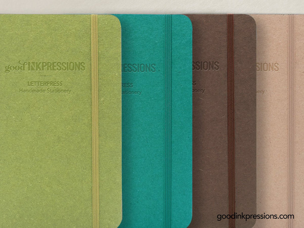 TOMOE RIVER  68gsm 180 pages Notebook - A5 Size with elastic closure  - handmade by goodINKpressions