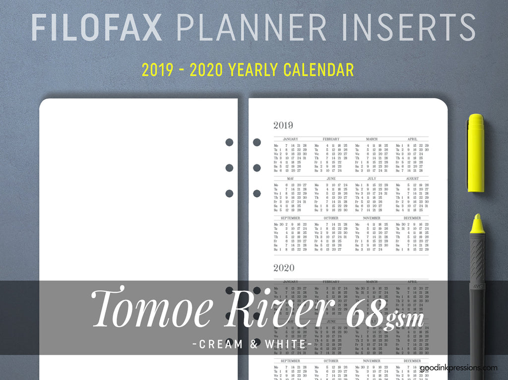 FILOFAX - TOMOE River 68gsm WEEKLY Planner, Week on One Page, Fountain Pen Paper