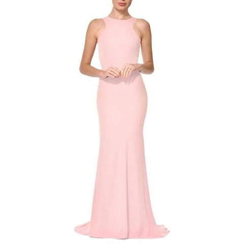 Amie Gown Blush - Long Dresses, - Nadine Merabi - Aloha Doll - elegant womens evening wear dresses and gowns