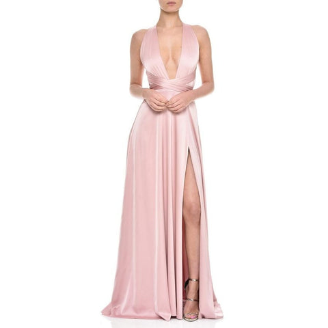 Gracie Blush - Long Dresses, - Nadine Merabi - Aloha Doll - elegant womens evening wear dresses and gowns
