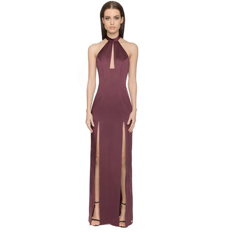 Saffron Gown - Berry - Long Dresses, - Aloura London - Aloha Doll - elegant womens evening wear dresses and gowns