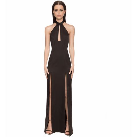 Saffron Gown - Black - Long Dresses, - Aloura London - Aloha Doll - elegant womens evening wear dresses and gowns