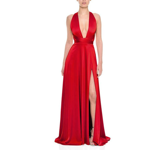 Gracie red - Long Dresses, - Nadine Merabi - Aloha Doll - elegant womens evening wear dresses and gowns
