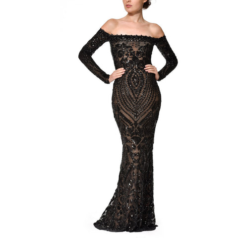 Arabella Gown - Long Dresses, - Nadine Merabi - Aloha Doll - elegant womens evening wear dresses and gowns