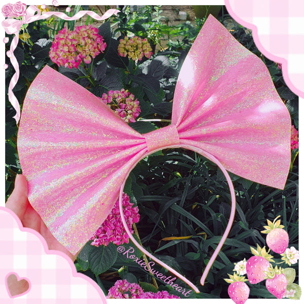 Giant Headbow ~ Strawberry Shake (Made to Order)