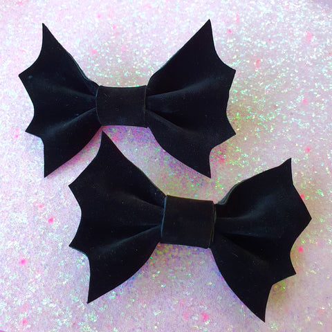 Baby Bat Hair slides ~ Black Velvet