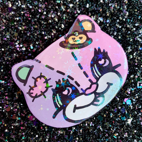 Magical Ghouls Badge ~ Party Bear