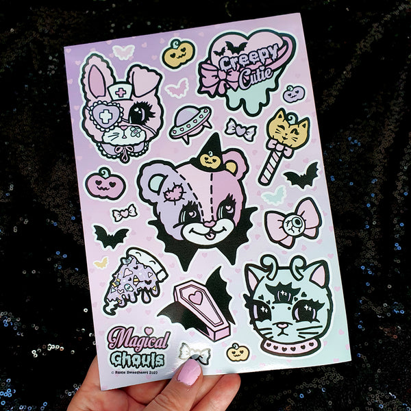 Magical Ghouls Sticker Sheet