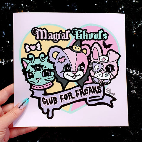 Magical Ghouls Art Print (B Grade)*