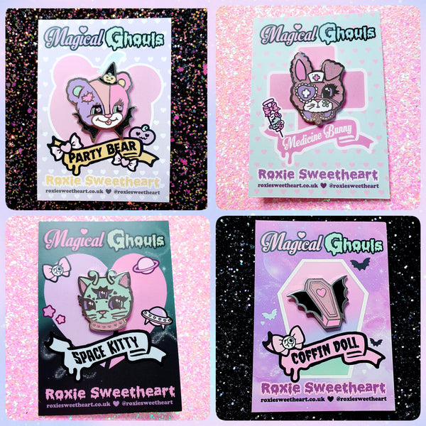 Magical Ghouls Enamel Pin (Full Set)