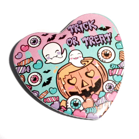 Halloween Party Pin Badge ~ Mint