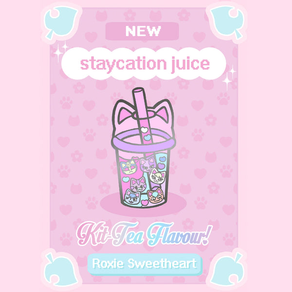 Staycation Juice (Kit~tea flavour) Enamel Pin