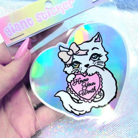Fancy Feline Holographic Sticker