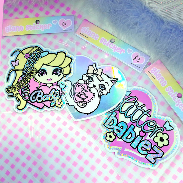 Betty Holographic Sticker