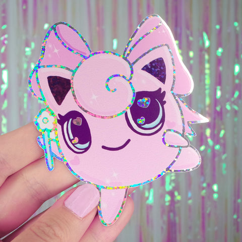 Jigglypuff Holographic Sticker