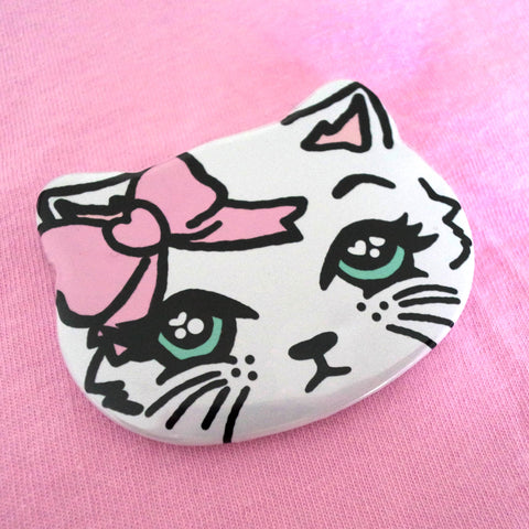 Kitty Badge ~ Fancy Feline