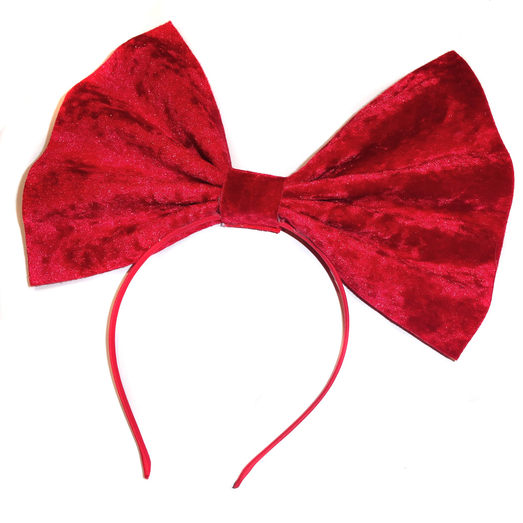 Red Velvet Giant Head Bow