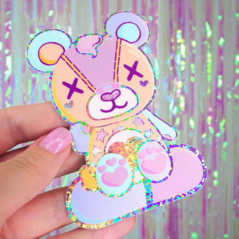 Stitches Holographic Sticker