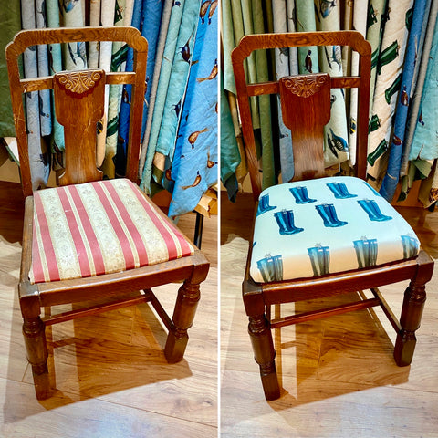 Reupholstering Dining Chair | Christie Lloyd