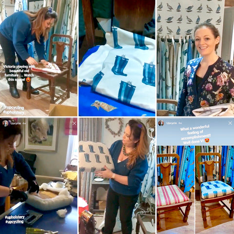 Reupholstering Dining Chair Demo  | Christie Lloyd