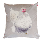 Penelope Hen Velvet Cushion