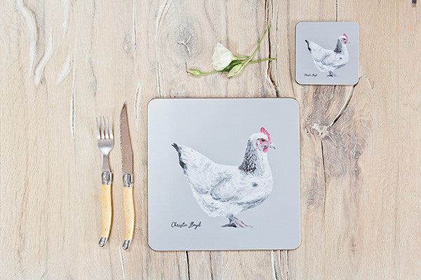 Victoria Hen Table Mat